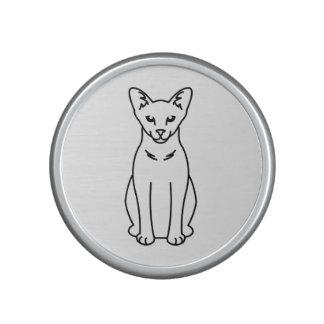 Dibujo animado oriental del gato del uno mismo altavoz bluetooth
