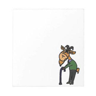 Dibujo animado original del arte de la cabra vieja bloc