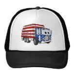 Dibujo animado patriótico del camión de basura gorras