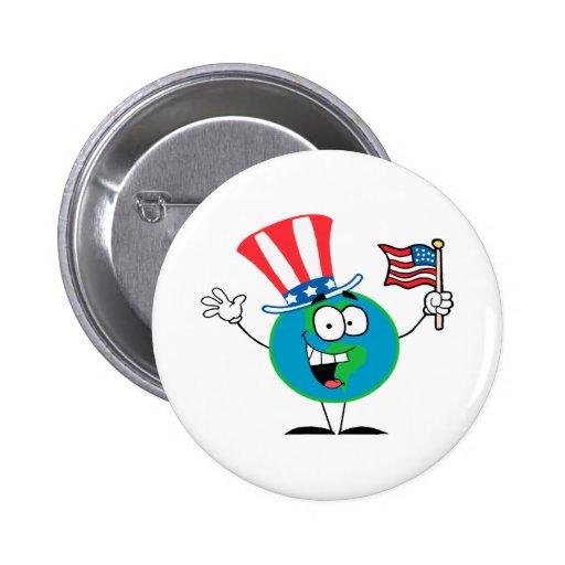 dibujo animado patriótico lindo los E.E.U.U. del g Pin
