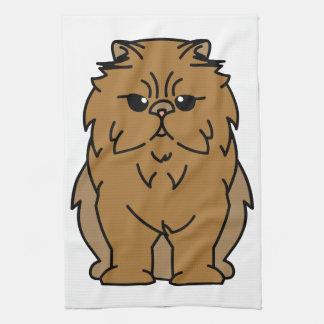 Dibujo animado Peke-Hecho frente del gato Toallas De Mano