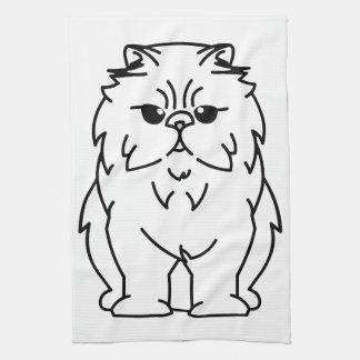Dibujo animado Peke-Hecho frente del gato Toallas