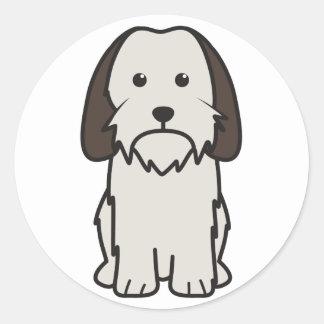 Dibujo animado pequeno del perro de Griffon Pegatina Redonda
