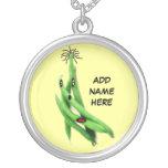 Dibujo animado personalizado de la haba verde joyerías