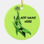 Dibujo animado personalizado de la haba verde adorno