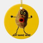 Dibujo animado personalizado de la patata ornamento para arbol de navidad