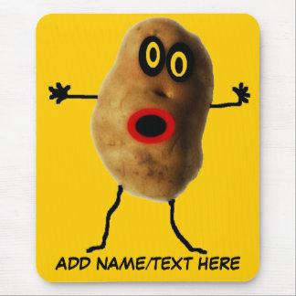 Dibujo animado personalizado de la patata mouse pad