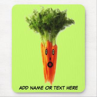 Dibujo animado personalizado de la zanahoria tapetes de ratón