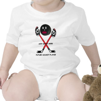 Dibujo animado personalizado del bebé del hockey traje de bebé