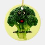 Dibujo animado personalizado del bróculi adorno