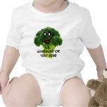Dibujo animado personalizado del bróculi camiseta