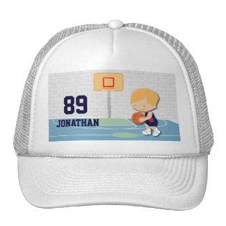 Dibujo animado personalizado del jugador de básque gorro de camionero