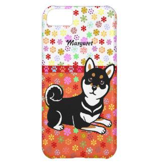 Dibujo animado personalizado del perro de Kuro Shi Funda Para iPhone 5C