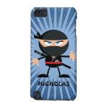 Dibujo animado personalizado Ninja en Starburst az Funda Para iPod Touch 5G