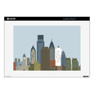 Dibujo animado Philadelphia Calcomanías Para Portátiles