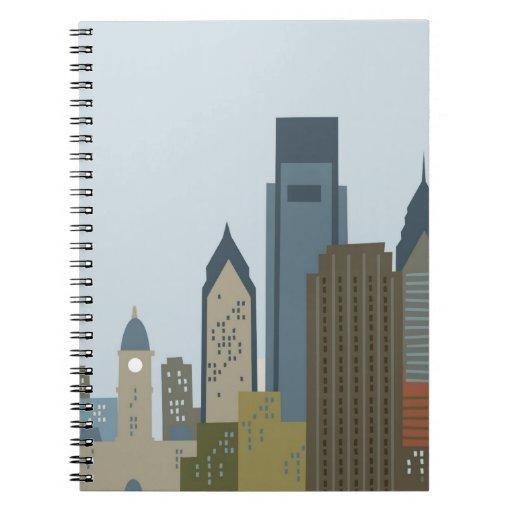 Dibujo animado Philadelphia Libreta