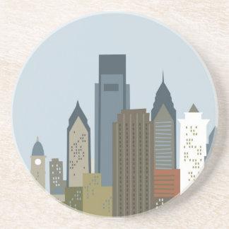 Dibujo animado Philadelphia Posavasos Personalizados