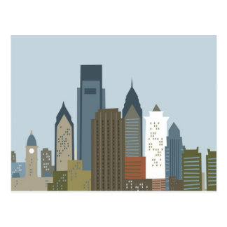 Dibujo animado Philadelphia Postales