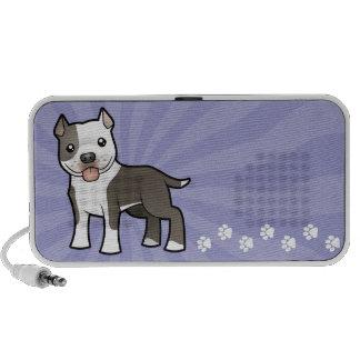 Dibujo animado Pitbull/Staffordshire Terrier ameri iPod Altavoces