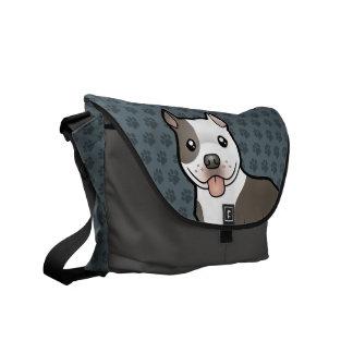 Dibujo animado Pitbull/Staffordshire Terrier ameri Bolsa De Mensajería