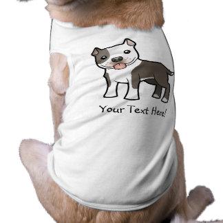 Dibujo animado Pitbull/Staffordshire Terrier ameri Playera Sin Mangas Para Perro