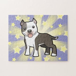 Dibujo animado Pitbull/Staffordshire Terrier ameri Puzzle