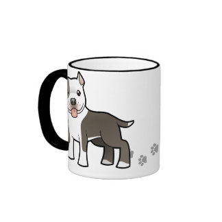 Dibujo animado Pitbull/Staffordshire Terrier ameri Taza