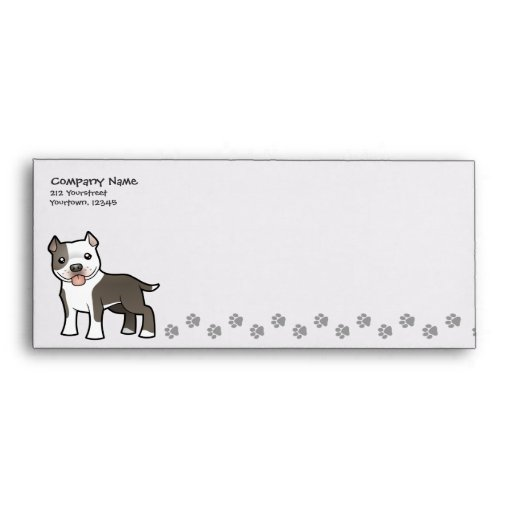 Dibujo animado Pitbull/Staffordshire Terrier Sobres