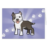 Dibujo animado Pitbull/Staffordshire Terrier Tarjeta De Felicitación