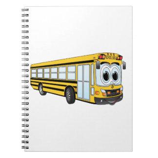 Dibujo animado plano de la nariz del autobús libreta
