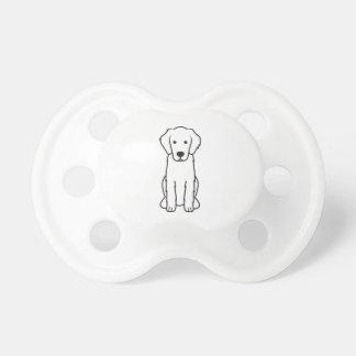 Dibujo animado Plano-Revestido del perro del perro Chupete De Bebe