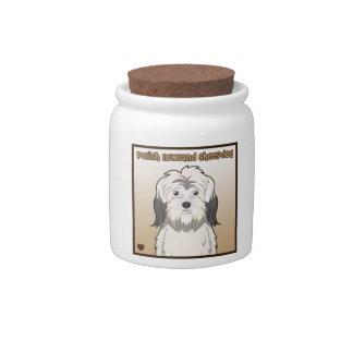 Dibujo animado polaco del perro pastor de la tierr plato para caramelo