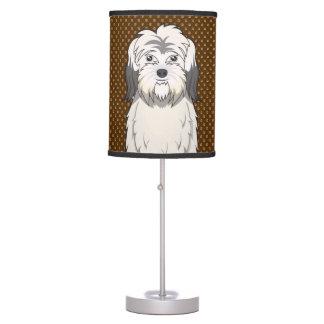 Dibujo animado polaco del perro pastor de la tierr lámpara de mesa