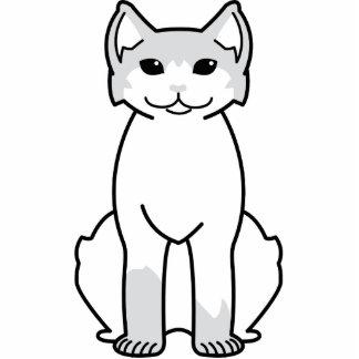 Dibujo animado polidáctilo americano del gato escultura fotográfica