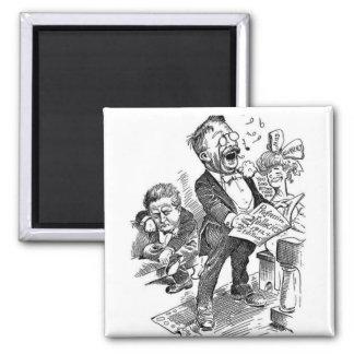 Dibujo animado político de Theodore Roosevelt 1912 Imán De Frigorífico
