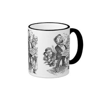 Dibujo animado político de Theodore Roosevelt 1912 Tazas De Café