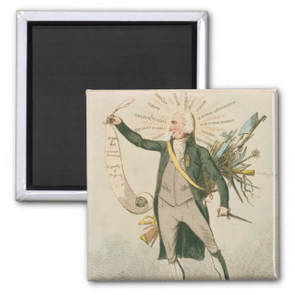 Dibujo animado político de Thomas Paine Iman Para Frigorífico