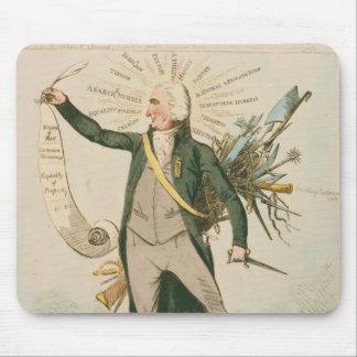 Dibujo animado político de Thomas Paine Mouse Pads
