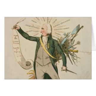 Dibujo animado político de Thomas Paine Tarjeta De Felicitación