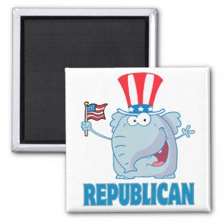 dibujo animado político del elefante republicano l imán de frigorífico