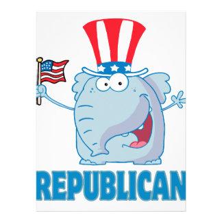 dibujo animado político del elefante republicano l invitación personalizada