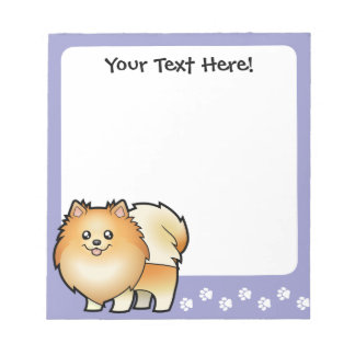 Dibujo animado Pomeranian Libretas Para Notas
