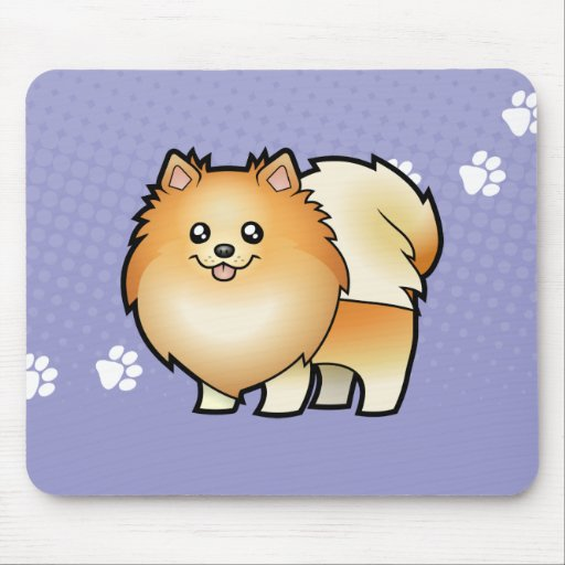 Dibujo animado Pomeranian Tapete De Ratón
