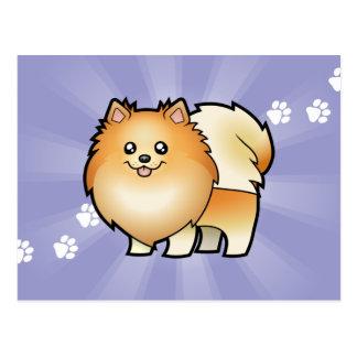 Dibujo animado Pomeranian Tarjeta Postal