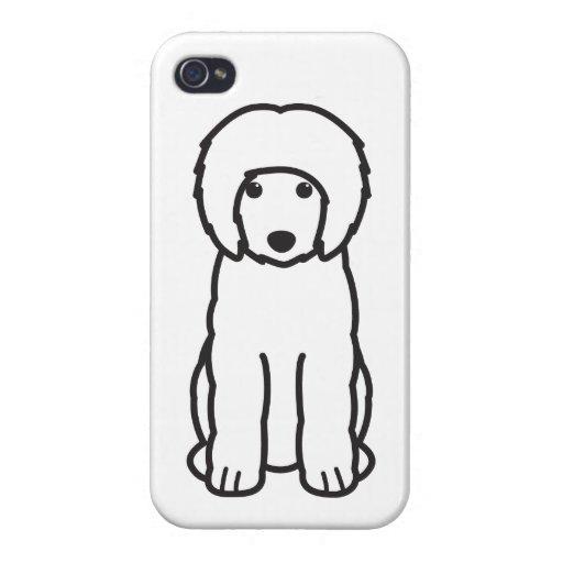 Dibujo animado portugués del perro de agua iPhone 4 cárcasas