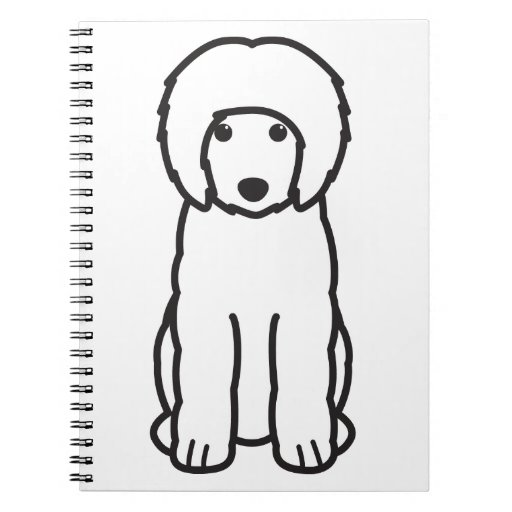 Dibujo animado portugués del perro de agua libretas espirales