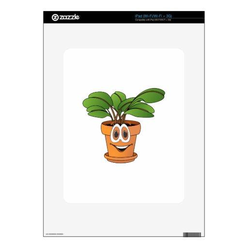 Dibujo animado Potted de la planta Calcomanía Para iPad