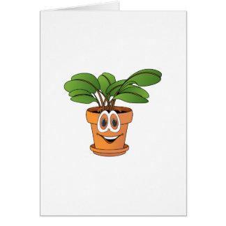 Dibujo animado Potted de la planta Tarjeton