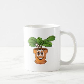 Dibujo animado Potted de la planta Taza De Café