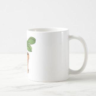 Dibujo animado Potted de la planta Tazas De Café